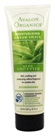 Avalon Organics - Cream Shave Moisturizing Aloe Unscented - 8 oz.