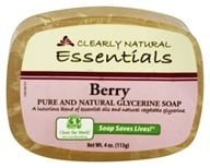 Clearly Natural - Pure And Natural Glycerine Bar Soap Berry - 4 oz.