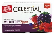 Image of Celestial Seasonings - Wild Berry Zinger Herb Tea Caffeine Free - 20 Tea Bags
