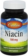 Carlson Labs - Niacin 100 mg. - 300 Tablets (088395027734)