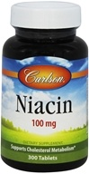 Carlson Labs - Niacin 100 mg. - 300 Tablets - $13.53