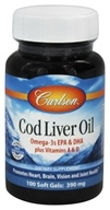 Image of Carlson Labs - Norwegian Cod Liver Oil 390 mg. - 100 Softgels