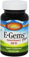 Carlson Labs - E Gems Plus Natural Vitamin E 200 IU - 100 Softgels