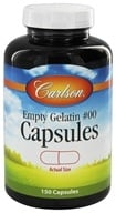 Carlson Labs - Empty Gelatin Capsules Size 00 Large - 150 Capsules