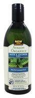 Image of Avalon Organics - Bath & Shower Gel Peppermint - 12 oz.
