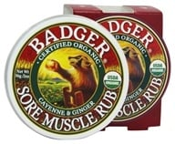 Badger - Sore Muscle Rub Cayenne & Ginger - 2 oz. by Badger