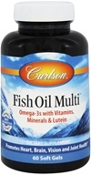 Carlson Labs - Fish Oil Multi Vitamins, Minerals, & Fish Oils - 60 Softgels, from category: Vitamins & Minerals