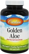 Carlson Labs - Golden Aloe (Aloe Vera Gel Concentrate) - 180 Softgels (088395080524)