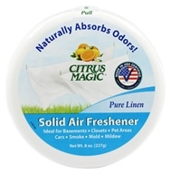 Citrus Magic - Solid Air Freshener Odor Absorbing Pure Linen - 8 oz. by Citrus Magic