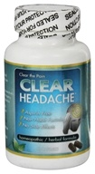 Clear Products - Clear Headache Homeopathic/Herbal Relief Formula - 60 Capsules (648426718927)