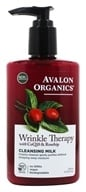 Avalon Organics - Wrinkle Therapy Cleansing Milk with CoQ10 & Rosehip - 8.5 온스.