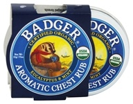 Badger - Aromatic Chest Rub Eucalyptus & Mint - 0.75 oz. by Badger
