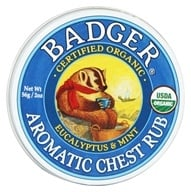 Image of Badger - Aromatic Chest Rub Eucalyptus & Mint - 2 oz.