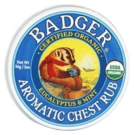 Badger - Aromatic Chest Rub Eucalyptus & Mint - 2 oz. (634084135794)