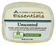 Clearly Natural - Glycerine Soap Bar Unscented - 4 oz. (075573000153)
