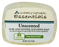 Image of Clearly Natural - Glycerine Soap Bar Unscented - 4 oz.