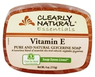Clearly Natural - Glycerine Soap Bar Vitamin E - 4 oz. by Clearly Natural