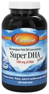 Carlson Labs - Super DHA Gems 500 mg. - 180 Softgels, from category: Nutritional Supplements