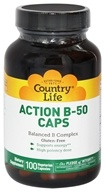 Image of Country Life - Action B-50 Caps Balanced B Complex - 100 Vegetarian Capsules