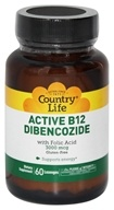 Country Life - Active B-12 Dibencozide with Folic Acid Sublingual 3000 mcg. - 60 Lozenges by Country Life