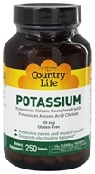 Country Life - Potassium 99 mg. - 250 Tablets, from category: Vitamins & Minerals