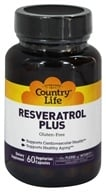 Country Life - Resveratrol Plus - 60 Vegetarian Capsules - $14.99