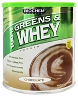 Biochem by Country Life - 100% Greens & Whey Powder Chocolate - 23.7 oz.
