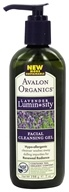Avalon Organics - Lavender Luminosity Facial Cleansing Gel Unscented - 7 oz. (Formerly Renewal & Vitality) (654749353059)