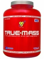 BSN - True-Mass Lean Mass Gainer Vanilla Ice Cream - 5.75 lbs. by BSN