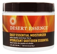 Desert Essence - Daily Essential Moisturizer with Jojoba and Aloe Vera - 4 oz. Formerly Facial Moisturizer
