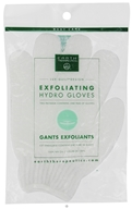 Earth Therapeutics - Exfoliating Hydro Gloves White - 1 Pair