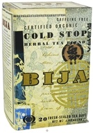 Image of Flora - Bija Cold Stop Herbal Tea Certified Organic Caffeine Free - 20 Tea Bags
