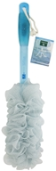 Earth Therapeutics - Feng Shui Mesh Body Brush with Ergonomic Grip Handle Blue/Water
