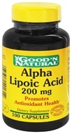 Good 'N Natural - Alpha Lipoic Acid 200 mg. - 100 Capsules by Good 'N Natural