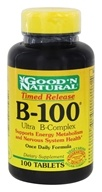 Good 'N Natural - B-100 Ultra B-Complex Time Release - 100 Tablets, from category: Vitamins & Minerals