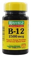 Good 'N Natural - Sublingual Vitamin B-12 2500 mcg. - 50 Tablets - $4.02