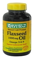 Good 'N Natural - Flaxseed Oil 1000 mg. - 120 Softgels - $5.76