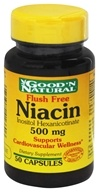 Good 'N Natural - Flush Free Niacin 500 mg. - 50 Capsules by Good 'N Natural