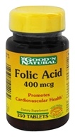 Good 'N Natural - Folic Acid 400 mcg. - 250 Tablets - $2.40