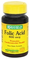 Good 'N Natural - Folic Acid 800 mcg. - 250 Tablets - $4.07