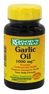 Good 'N Natural - Garlic Oil 1000 mg. - 100 Softgels by Good 'N Natural