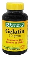 Good 'N Natural - Gelatin 10 Grain - 100 Capsules, from category: Nutritional Supplements
