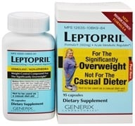 Generix Laboratories - Leptopril Weight Control Compound for The Significantly Overweight - 95 Capsules (681168124021)