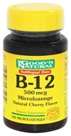 Good 'N Natural - Sublingual Dots B-12 Microlozenges 500 mcg. - 100 Lozenges (074312435959)