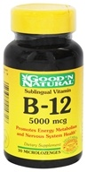Good 'N Natural - Sublingual Vitamin B-12 5000 mcg. - 30 Tablets (074312414718)