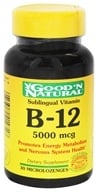 Good 'N Natural - Sublingual Vitamin B-12 5000 mcg. - 30 Tablets - $5.09