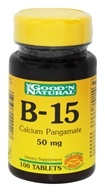 Good 'N Natural - B-15 Calcium Pangamate 50 mg. - 100 Tablets - $2.52