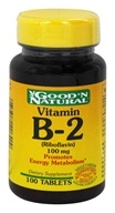 Good 'N Natural - Vitamin B-2 Riboflavin 100 mg. - 100 Tablets, from category: Vitamins & Minerals