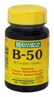 Good 'N Natural - B-50 B-Complex Vitamin - 50 Tablets (074312405808)