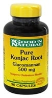 Good 'N Natural - Pure Konjac Root Glucomannan 500 mg. - 90 Capsules - $4.37
